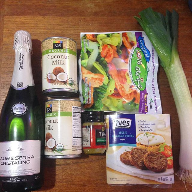 $13.47 groceries and champagne